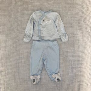 Carter's Baby Blue Lamb Top and Footie Pants Set